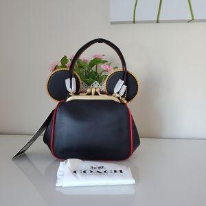 Coach Disney Mickey Mouse X Kisslock Bag